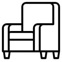 Foteliai su miegama dalimi