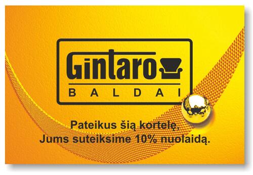 Auksinė Gintarobaldai kortelė