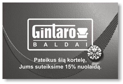 Deimantinė Gintarobaldai kortelė