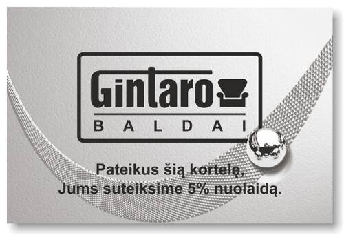 Sidabrinė Gintarobaldai kortelė